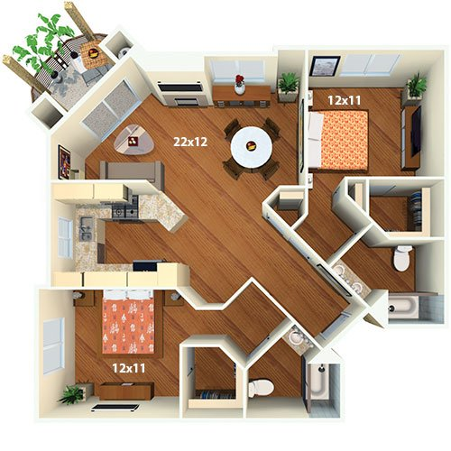 la apartments 2 bedroom. villas at park la brea apartments - 2 bed / bath the provence. bedrooms bedroom